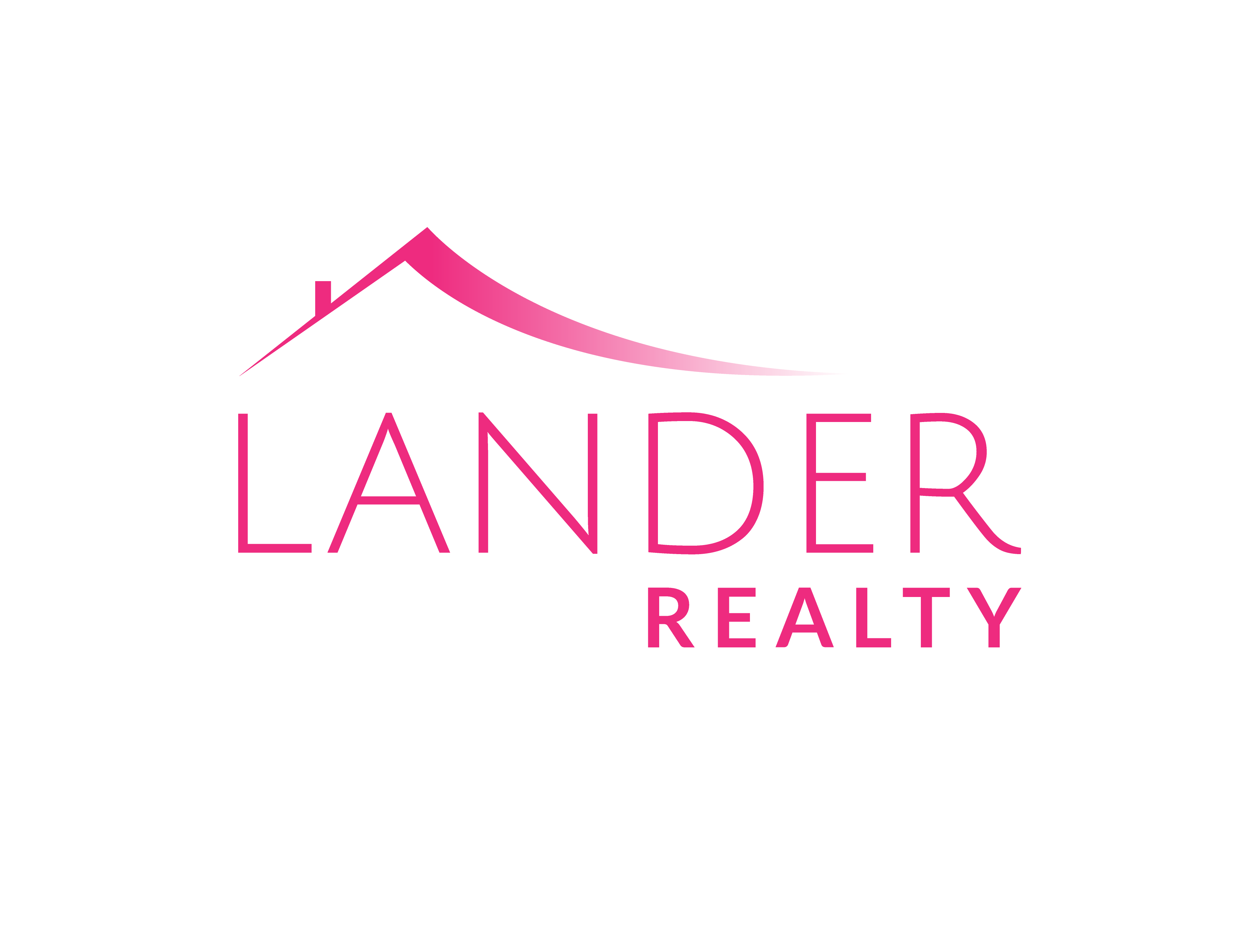 Pink logo for Lander Realty