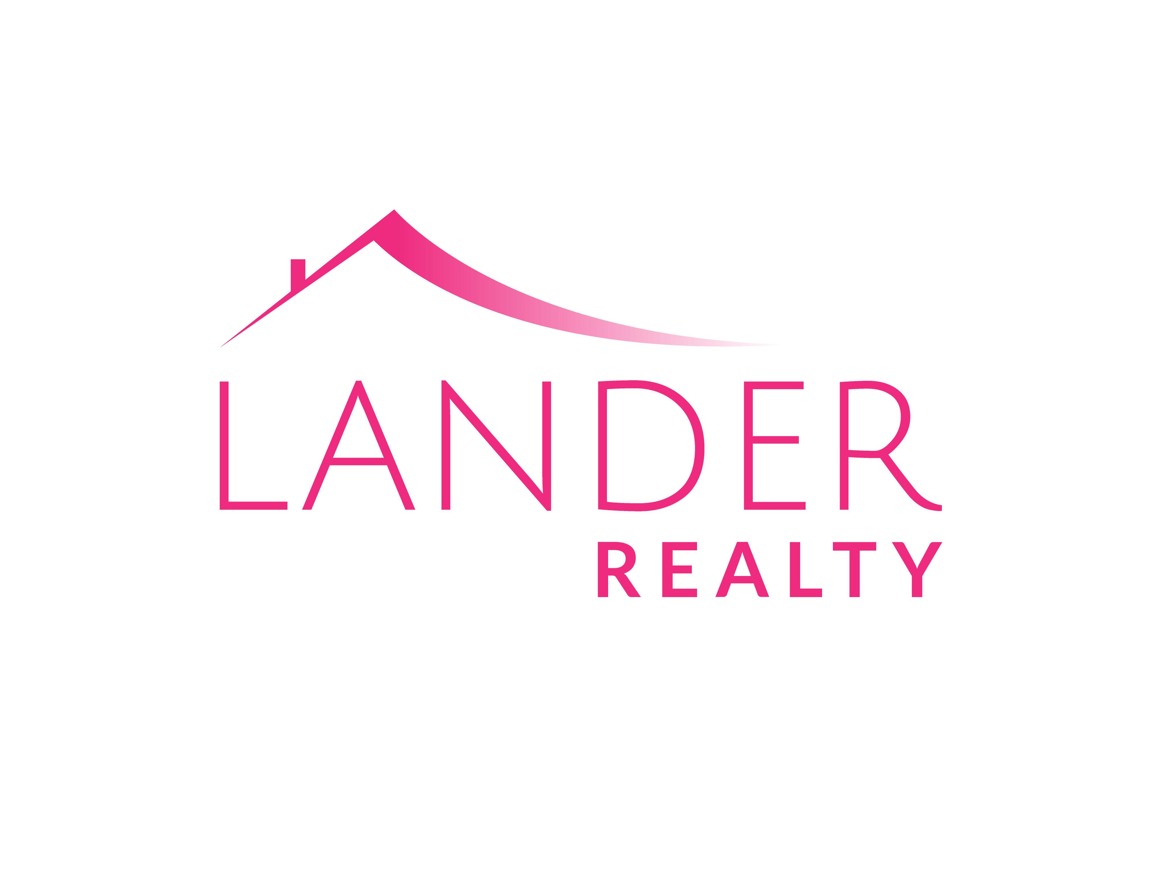 Pink logo for Lander Realty