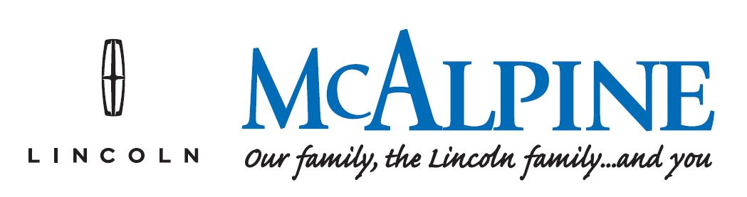 "McAlpine Lincoln logo, ""Our family, the Lincoln family...and you"""